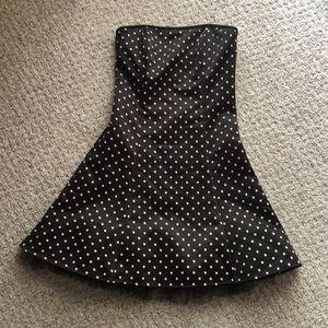 Jessica McClintock polka dot strapless dress